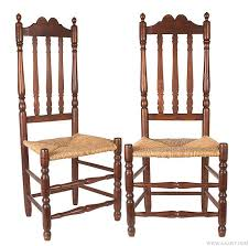 eighteenth century chairs. antique pair of banister back side chairs, new england, 18th century, view eighteenth century chairs f