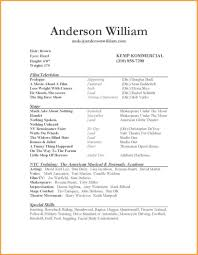 Special Skills For Acting Resume Acting Resume Skills Resume For Study 85