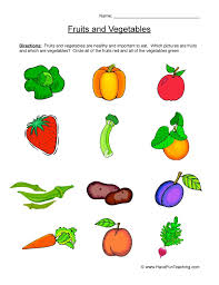 Fruit And Vegetable Challenge Chart Fruits And Vegetables Worksheet Have Fun Teaching