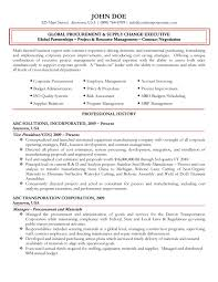 Procurement Resume Sample Global Procurement Executive Resume