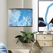 Pendant lighting for living room Corner Swag Style Ultrablue Giclee Shade Plugin Chandelier Amazoncom Swag Dining Living Room Pendant Lighting Lamps Plus