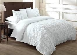 white ruffle duvet cover twin xl chezmoi collection ella 3 piece waterfall ruffle duvet cover set