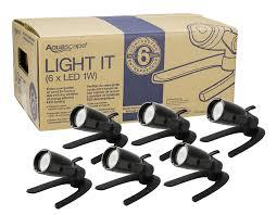 aquascape contractor light 6 pack 1 watt 12 volt led bullet spotlight architectural bronze finish g2 84045