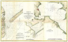Texas Gulf Coast Water Depth Chart 1857 Coastal Survey Map Nautical Chart Of Matagorda Bay And