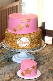 Girl Birthday Cake Ideas Pink And Gold First Princess Party