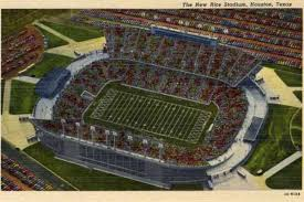 rice university football stadium. Unique University 3of 9HOUSTON  1951 Vintage Postcard Showing An Aerial View Of The New Rice  University Football Stadium Photo By Lake County MuseumGetty ImagesPhoto  And Football Stadium