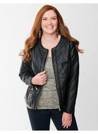 lane bryant plus size quilted faux leather jacket women s size 18 20 lane bryant jackets lane bryant available in plus size the perfect finishing