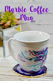 tutorial diy marble coffee mug