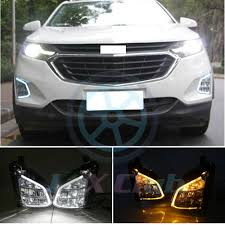 Equinox Fog Light Bezel Details About Drl Led Daytime Running Light Fog Lamp Turn Signal For Chevy Equinox 2018 2019