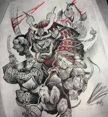 каталог эскизов тату с самураями идеи для разработки