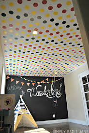 charming wall decoration using stencil wall painting ideas stunning kid room decoration ideas using black