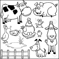 Download Farm Animals Coloring Pages For School Color Zini