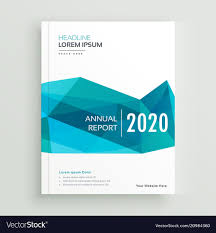 Product Brochure Cover Design Modern Blue Geometric Brochure Cover Page Design