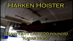 review and installation harken hoister heavy duty kayak garage storage