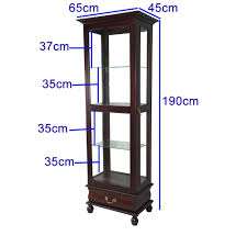 solid mahogany glass reion display cabinet