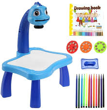 Zest 4 Toyz 3 In 1 Kids Super Fun Drawing Projector Table Lamp Projector Painting