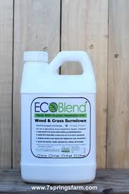 Safe alternative to synthetic herbicides. Ecoblend Organic Weed Grass Killer 64 Oz Bottle