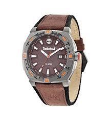 timberland men s quartz watch brown dial analogue display and timberland men s quartz watch brown dial analogue display and brown leather strap 14364jsu 12