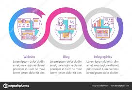 Channels For Seo Vector Infographic Template Business