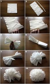 Paper Napkin Folding Flower Paper Flowers Making Lots Of These For Opening Day Softball
