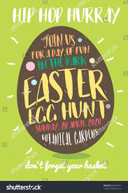 easter egg hunt template easter egg hunt invitation template vectorillustration stock vector