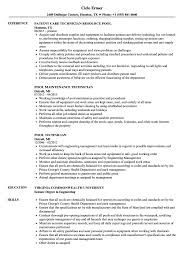 Data Center Technician Resume Sample Pool Technician Resume Samples Velvet Jobs 42