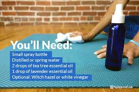 here is an easy diy yoga mat cleaner spray recipe