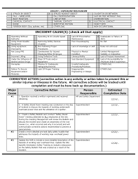 Root Cause Analysis Document Sample Barca Fontanacountryinn Com