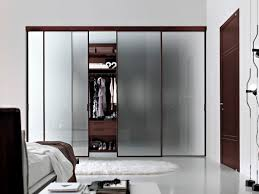 modern glass closet doors. Walk In Closet Door With Sliding Four Piece Frosted Glass Doors Having Dark Brown Frame Plus Modern