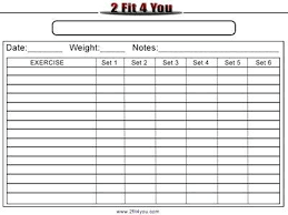 Blank Workout Sheet Gracecollege Us