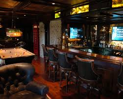 Marvellous Irish Pub Decorating Ideas With Vintage And Classic Touch :  Traditional Basement Pub Irish Bar