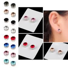 1 Pair Unisex Magnetic Weight Loss Round Ear Stud Earrings Jewelry