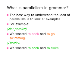 furthermore Parallelism – Learn English with Demi besides What is Parallelism besides What Is Parallelism In A Sentence    YouTube further  together with Today's Agenda Punctuation Capitalization Quiz  Writing Clear also Today's Agenda Punctuation Capitalization Quiz  Writing Clear besides Guide to Parallel Form Methods for improving coherence  unity  and also The Economies of Scaling Software likewise Quiz   Worksheet   Writing Parallel Sentences   Study additionally Parallelism    ppt video online download. on latest parallelism in writing