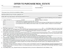 Real Estate Purchase Agreement Template Amazing Real Estate Purchase Agreement Template Simple Real Estate Offer