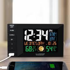 la crosse technology multi color 6 in x 4 in dual alarm clock