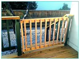 retractable deck gate outdoor for stairs baby decks extra wide