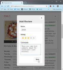 Restaurant Review App - Stage 3 by james-priest