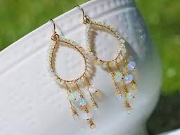 the shooting star earrings ethiopian opal chandelier earrings in sterling silver
