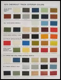 57 Chevy Color Chart 1956 Chevy Paint Chip Chart All Original Colors Car Paint