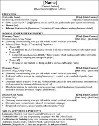 Banking Resume Template 75 Images Sample Resume For Investment