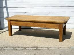 antique english pine coffee table
