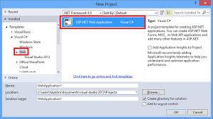 visual studio 2010 website templates creating asp net web projects in visual studio 2013 microsoft docs