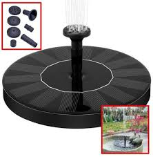 bird bath fountain solar powered water pump floating outdoor pond garden patio