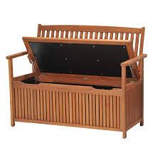 new eucalyptus wood outdoor storage bench wooden garden
