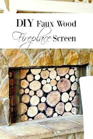 diy fireplace screens my faux wood screen diy fireplace screens glass screen rock stained doors
