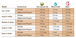 Dog Feeding Chart Puppy Feeding Schedule Dog Feeding Dog