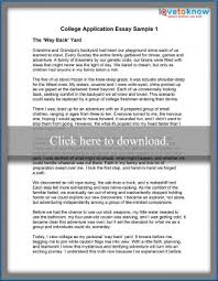 college application cover letter examples two sample essays