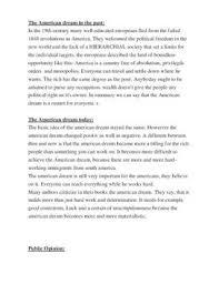 The American Dream Essay Schulhilfe De