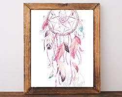 majestic dreamcatcher wall art pink dream catcher print zoom metal