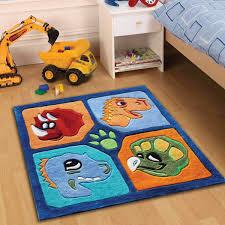 kiddy play dino square rugs multi